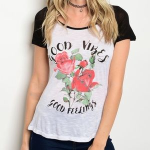 Inspired Closet Tops - Good Vibes Only Tee